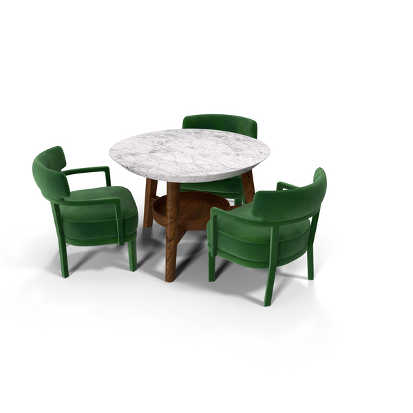 Dining Table Set for 3 Persons PNG & PSD Images