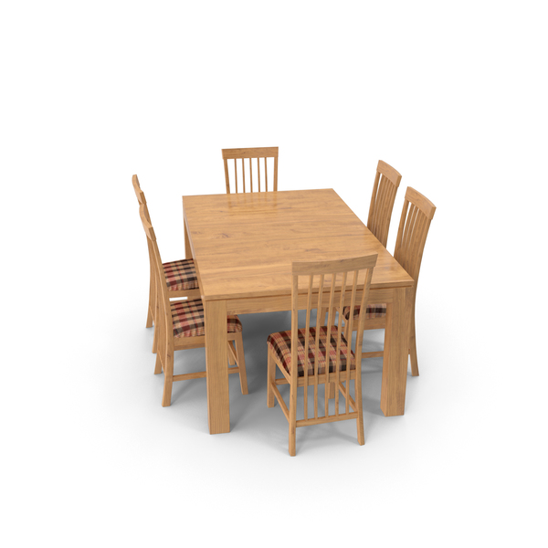 Dining Table Set Wood PNG & PSD Images