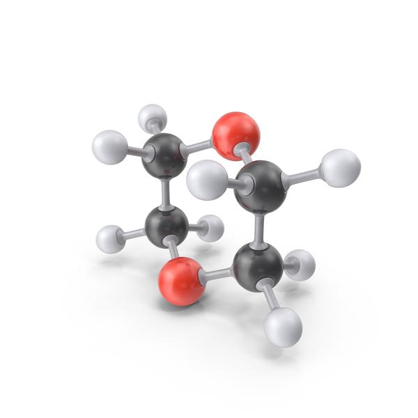 Dioxane Molecule PNG & PSD Images