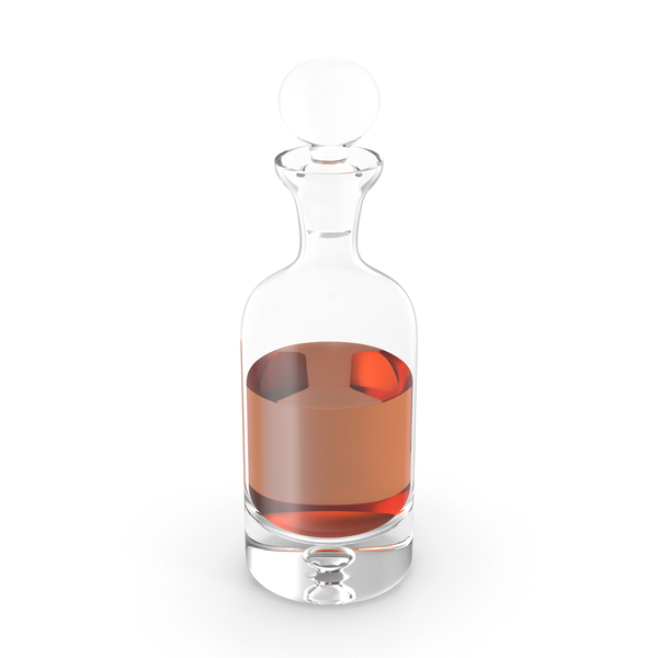 Direction Decanter with Whiskey PNG & PSD Images