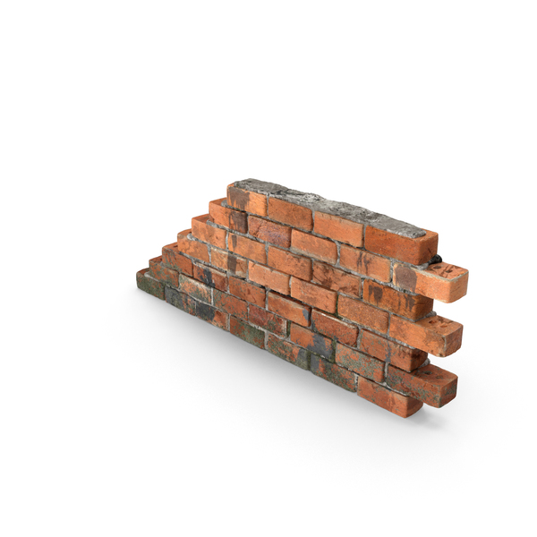 Dirty Brick Wall Section PNG & PSD Images
