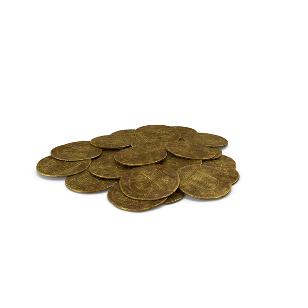 Coin: Dirty Gold Coins PNG & PSD Images