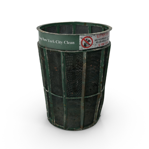 Dirty New York Garbage Bin PNG & PSD Images