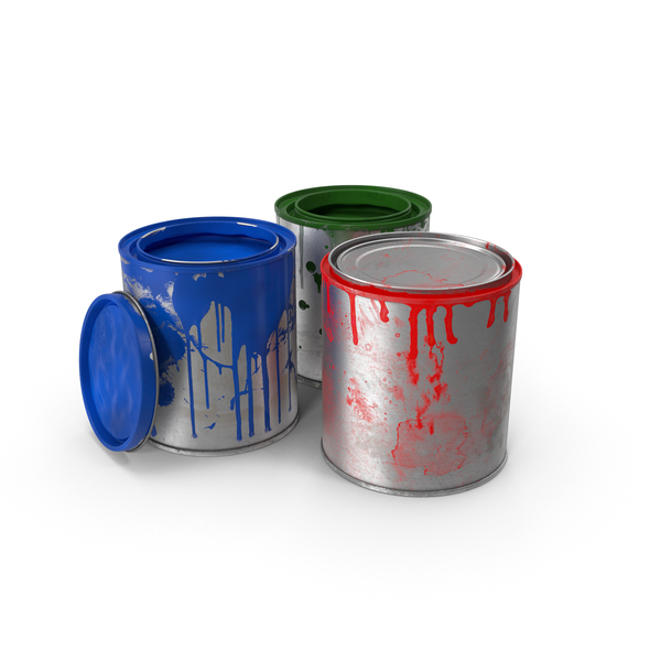 Dirty Paint Cans PNG & PSD Images