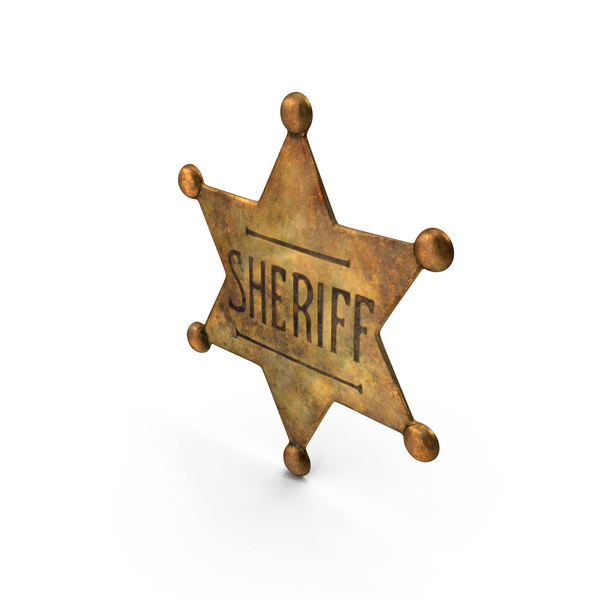 Dirty Sherrif Badge PNG & PSD Images