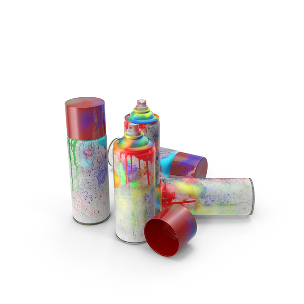Dirty Spray Paint Cans PNG & PSD Images