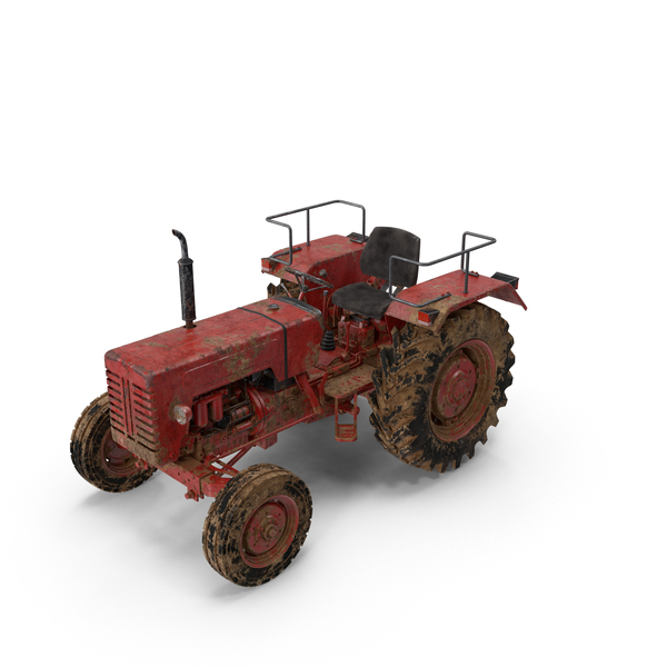 Dirty Tractor Mahindra 395 DI PNG & PSD Images