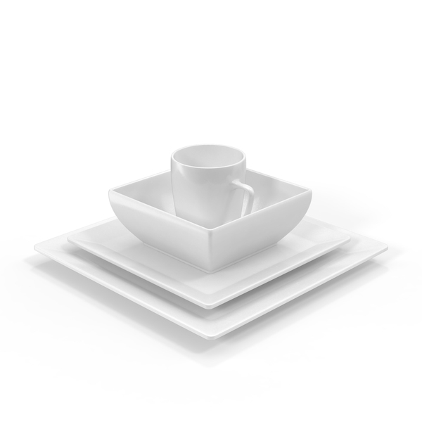 Tableware: Dishware Set 01 PNG & PSD Images