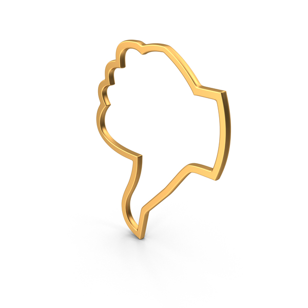 Dislike Symbol Gold PNG & PSD Images