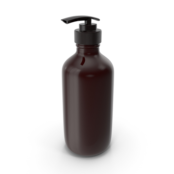 Liquid Soap: Dispenser Bottle Brown Gloss PNG & PSD Images