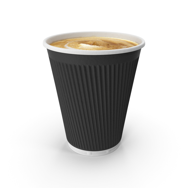 Paper: Disposable Cup with Coffee PNG & PSD Images