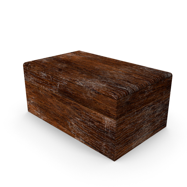 Distressed Wood Box Object