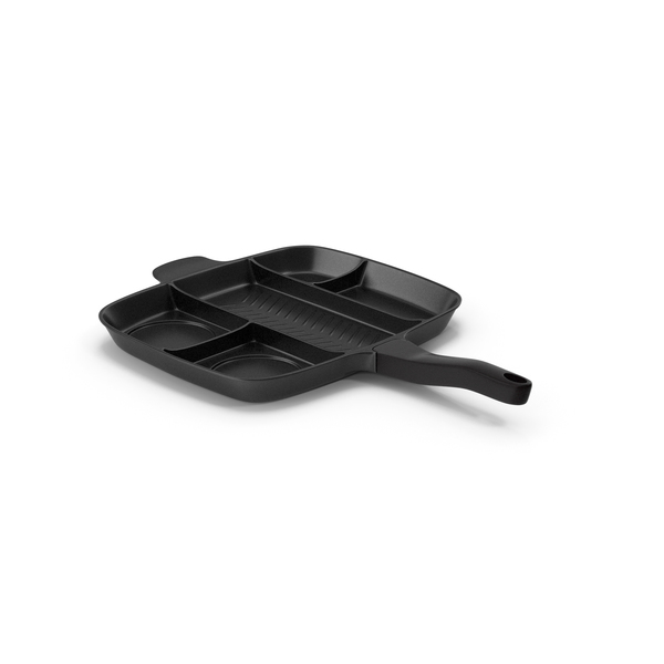 Divided 5 Section Grill Griddle Skillet Generic PNG & PSD Images