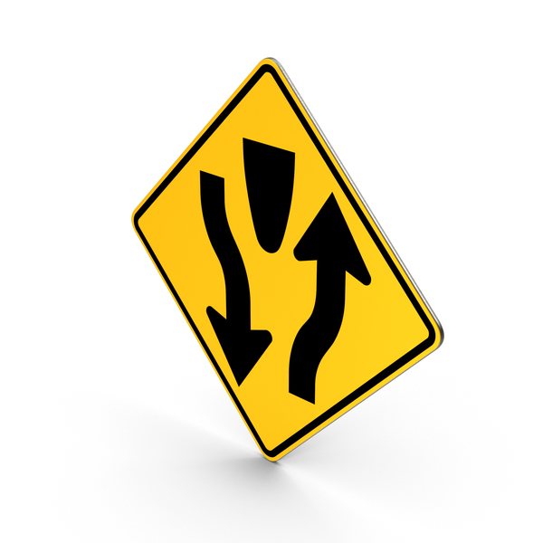 Divided Highways Sign PNG & PSD Images