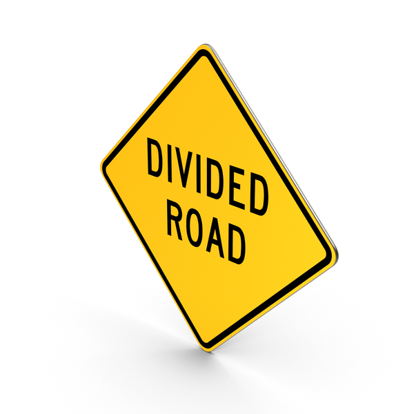 Divided Road Sign PNG & PSD Images
