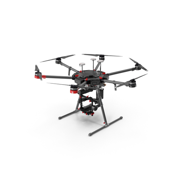 DJI Matrice 600 Pro and Ronin-MX 2017 PNG & PSD Images
