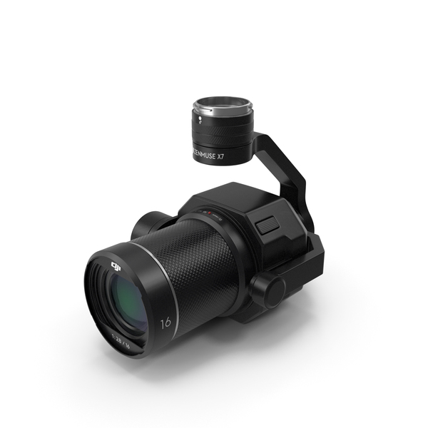 Optical Stabilizer Lens: DJI Zenmuse X7 Camera and 3 Axis Gimbal PNG & PSD Images