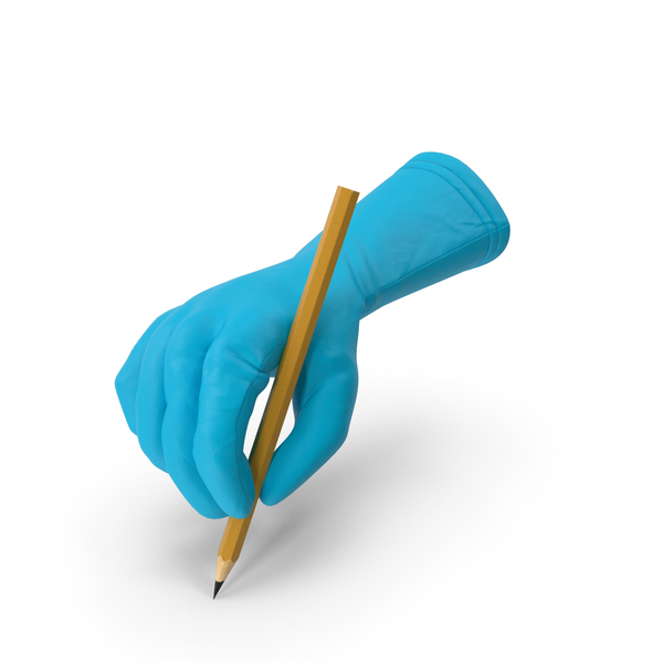 Doctor Glove Holding a Pencil PNG & PSD Images