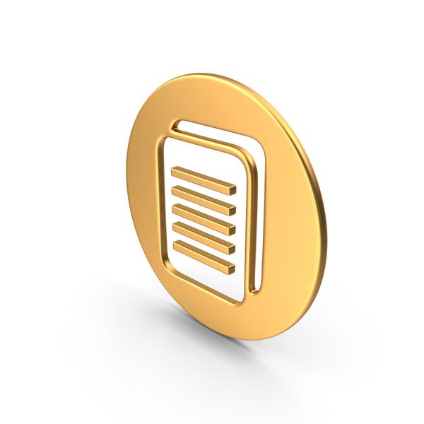 File Holder: Documents Symbol Gold PNG & PSD Images