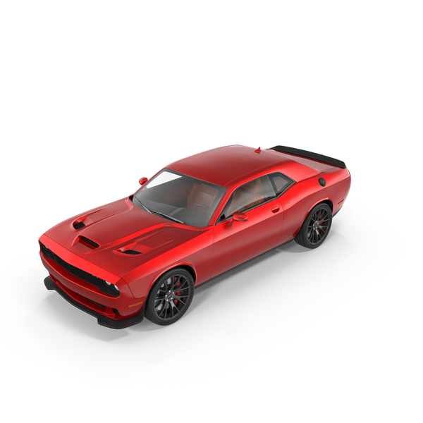 Muscle Car: Dodge Challenger SRT Hellcat 2015 PNG & PSD Images