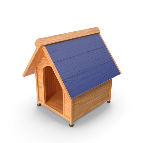 House: Dog Kennel Blue PNG & PSD Images