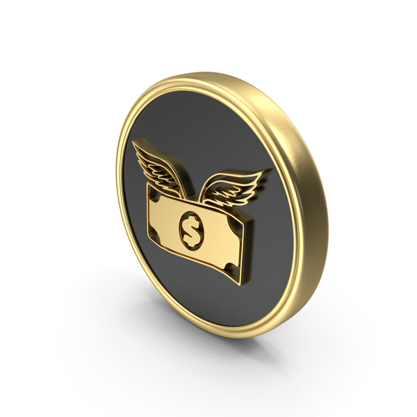 Money Bag: Dollar Flying Coin Logo Symbol Icon PNG & PSD Images