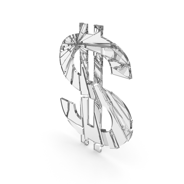 Dollar Glass Cracked PNG & PSD Images