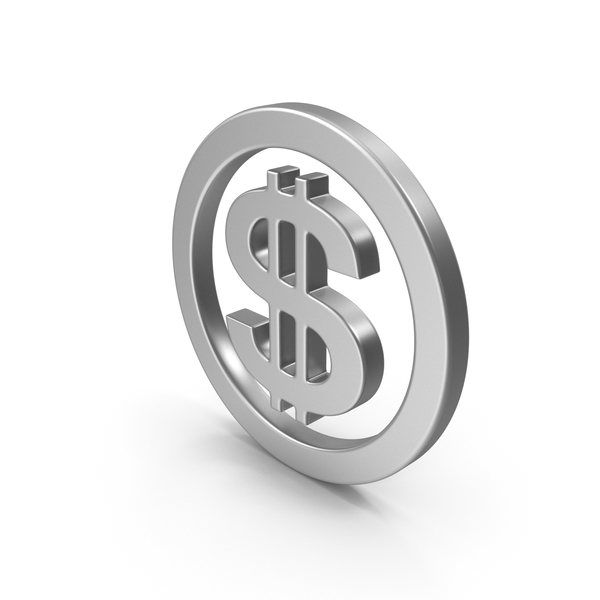 Dollar Sign Steel or Silver PNG & PSD Images
