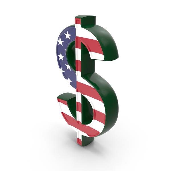 Dollar Sign USA Flag PNG & PSD Images