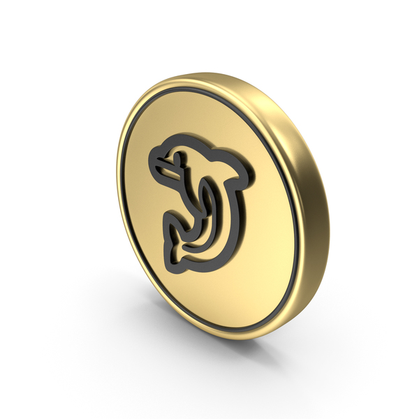 Dolphin Coin Logo Icon PNG & PSD Images