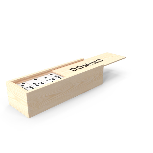 Dominos: Domino Knuckles in Wooden Box PNG & PSD Images