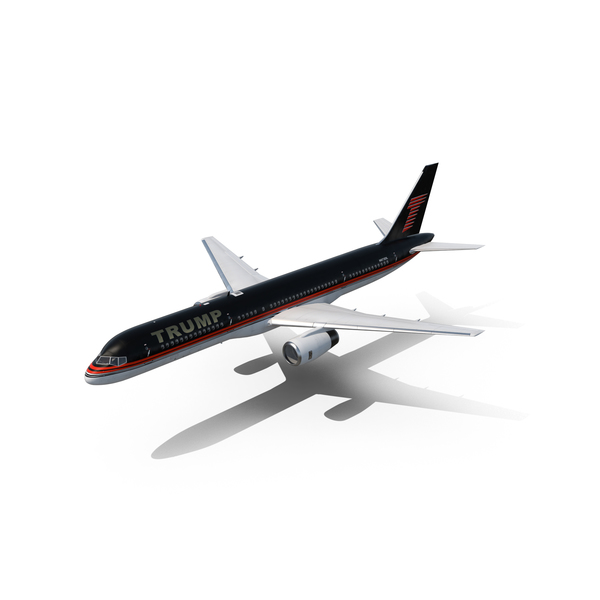 Donald Trump Private Boeing 757 PNG & PSD Images