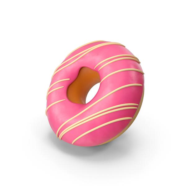 Donut Glaze Pink PNG & PSD Images