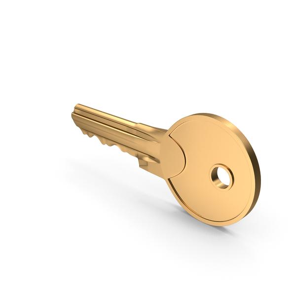 Door Key Golden PNG & PSD Images