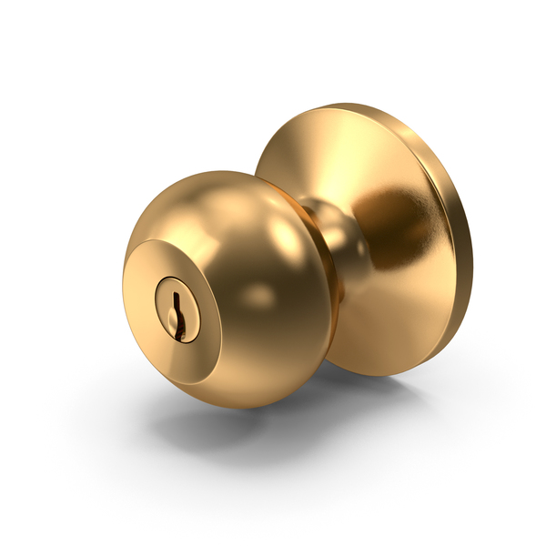 Door Knob Golden With Keyhole PNG & PSD Images