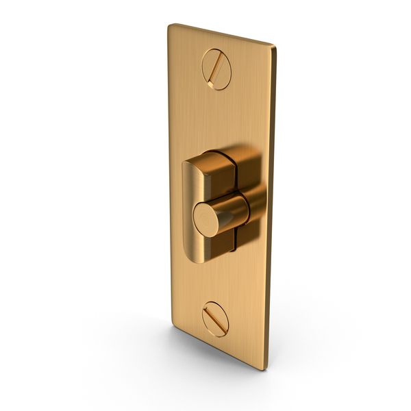 Latch: Door Lock Deadlatch Golden With Screwhead PNG & PSD Images