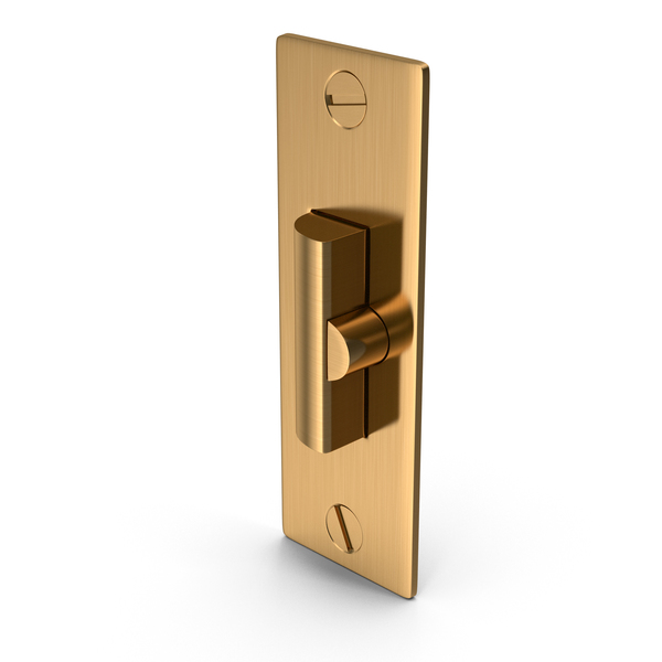 Latch: Door Lock Deadlatch Golden With Screwhead PNG & PSD Images