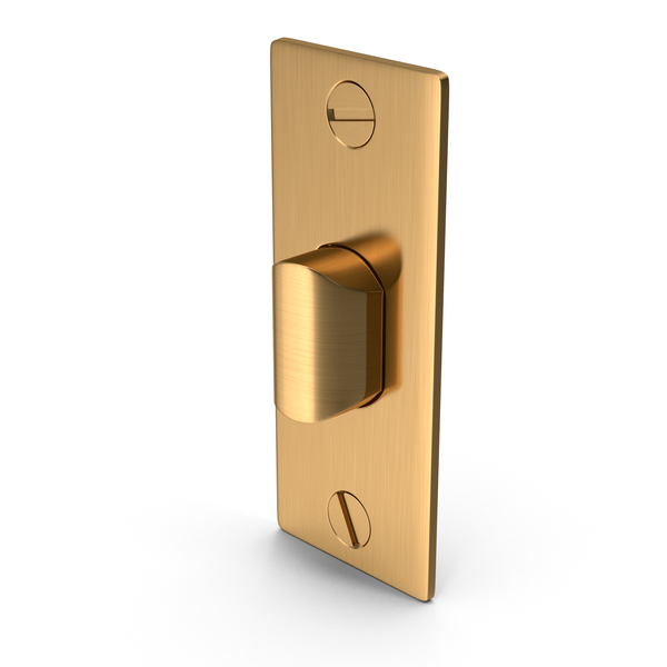 Door Lock Latch Golden With Screwhead PNG & PSD Images