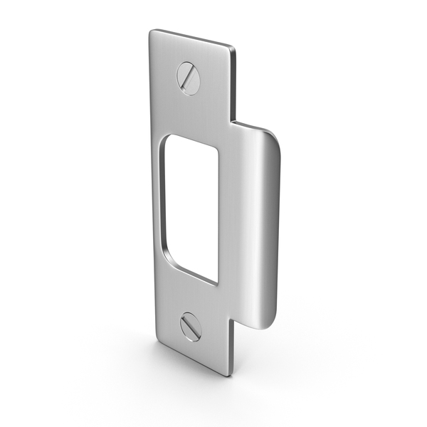 Door Lock Strike Plate With Screwhead PNG & PSD Images