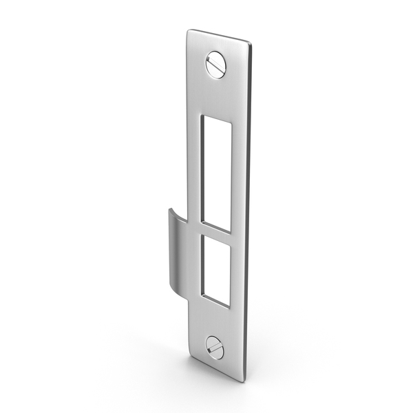 Hinge: Door Lock Strike Plate With Screwhead PNG & PSD Images