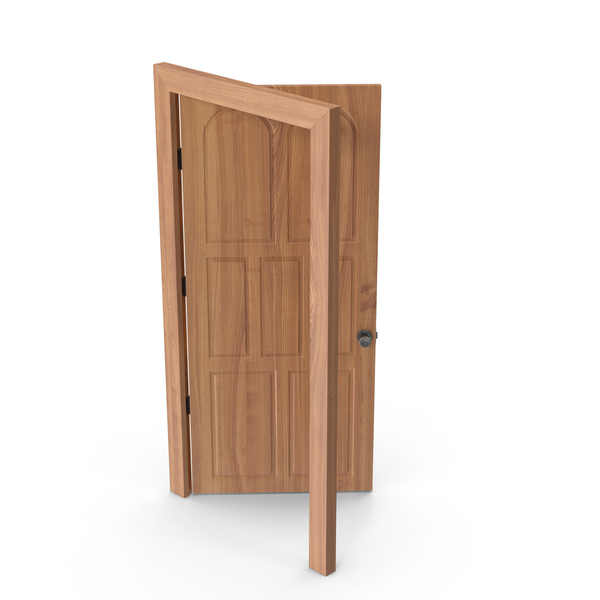 Door Open Cherry Wood PNG & PSD Images
