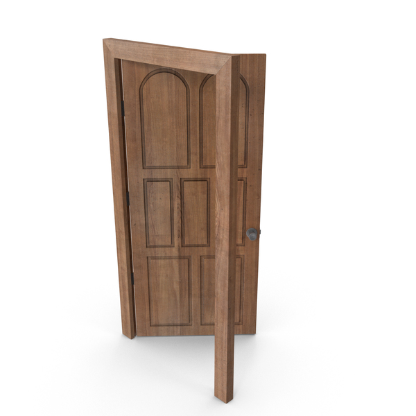 Door Open Cherry Wood Old PNG & PSD Images