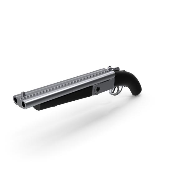 Double Barrel Shotgun Black Steel PNG & PSD Images