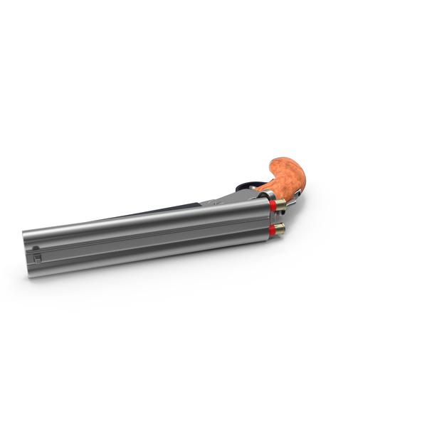 Double Barrel Shotgun Bullets on Floor PNG & PSD Images