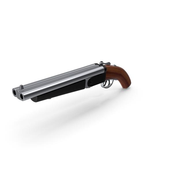 Double Barrel Shotgun Wood Steel PNG & PSD Images