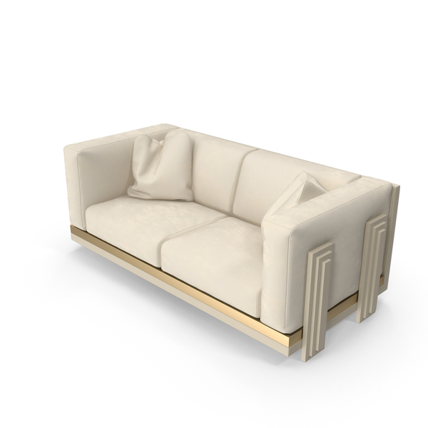 Double Beige Sofa PNG & PSD Images