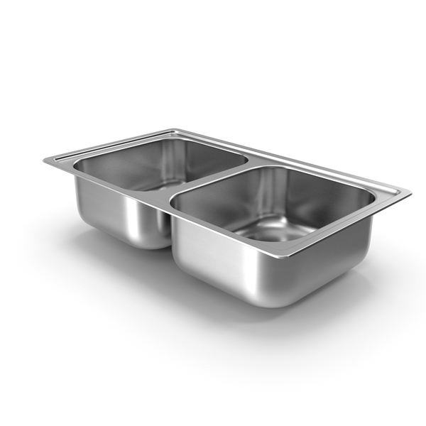 Double Bowl Integrated Kitchen Sink PNG & PSD Images