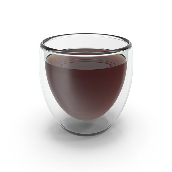 Double Wall Glass With Drink PNG & PSD Images