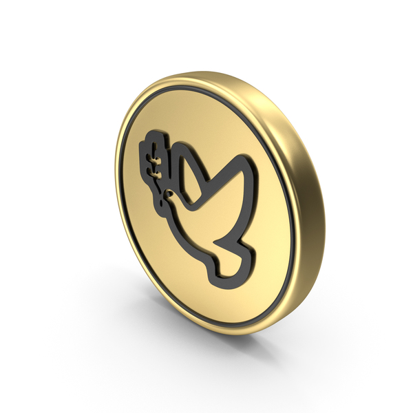 Dove Peace Bird Coin PNG & PSD Images