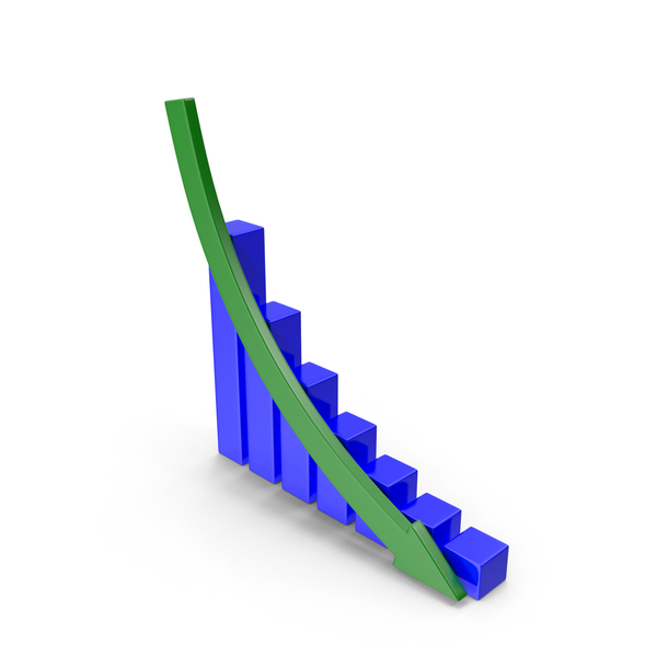Downward Graph PNG & PSD Images